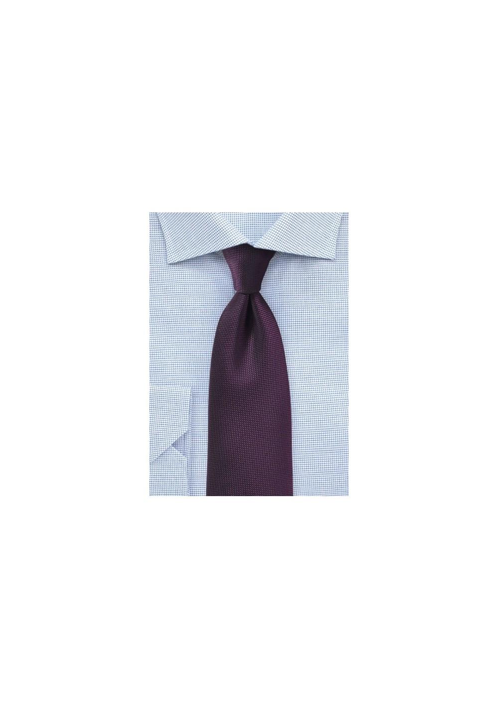 Matte Tie in Grape