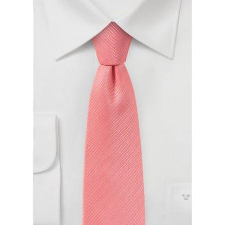 Coral Pink Skinny Tie