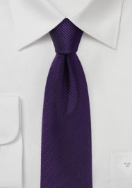 Slim Cut Grape Color Tie