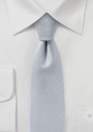Light Silver Skinny Tie