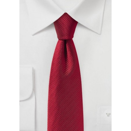Skinny Tie in Cherry Red