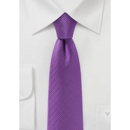 Slim Cut Tie in Bright Violet