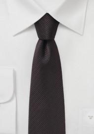 Dark Brown Slim Cut Necktie