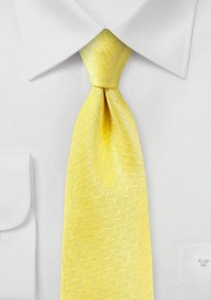 Herringbone Texture Tie in Sun Yellow