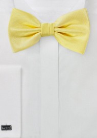 Herringbone Texture Bowtie in Sun Yellow