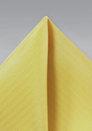Sun Yellow Texture Pocket Square