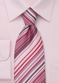 Spring Fashion Ties Pink Striped Necktie