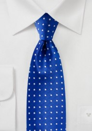 Bright Horizon Blue Polka Dot Tie
