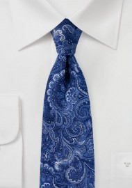 Woven Paisley Tie in Royal Blue
