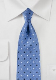 Polka Dot Tie in Parisian Blue