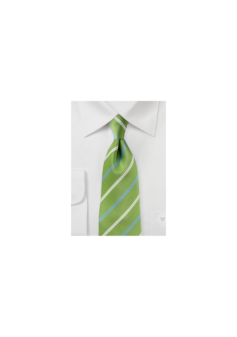 Foliage Green Striped Tie