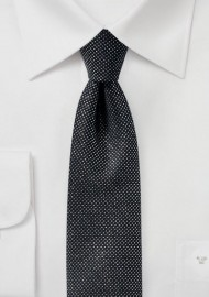 Black Skinny Tie with Metallic Sparkles