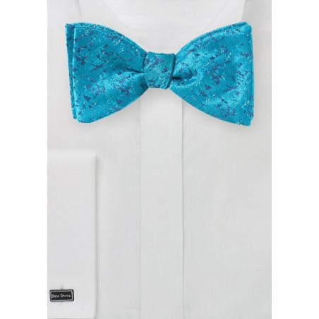 Abstract Art Bow Tie in River Blue