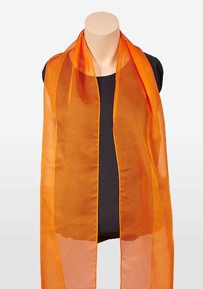 Bright Orange Chiffon Fabric Scarf