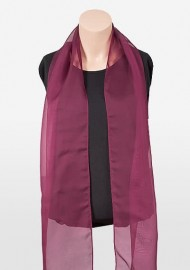 Chiffon Womens Scarf in Burgundy