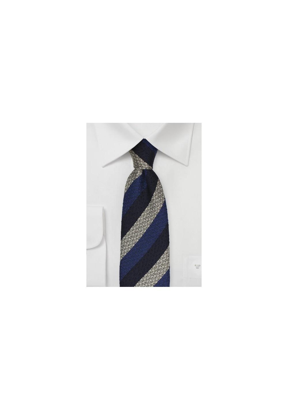Retro Striped Tie in Blue