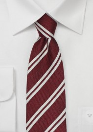 Winter Striped Design in Crimson Red