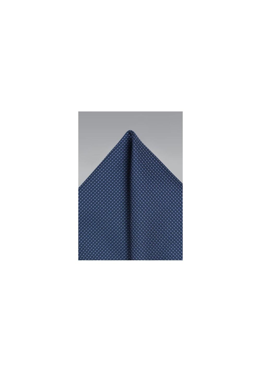 Grenadine Texture Pocket Square in Navy