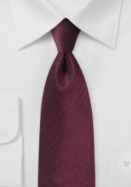 Herringbone Tie in Wine Red