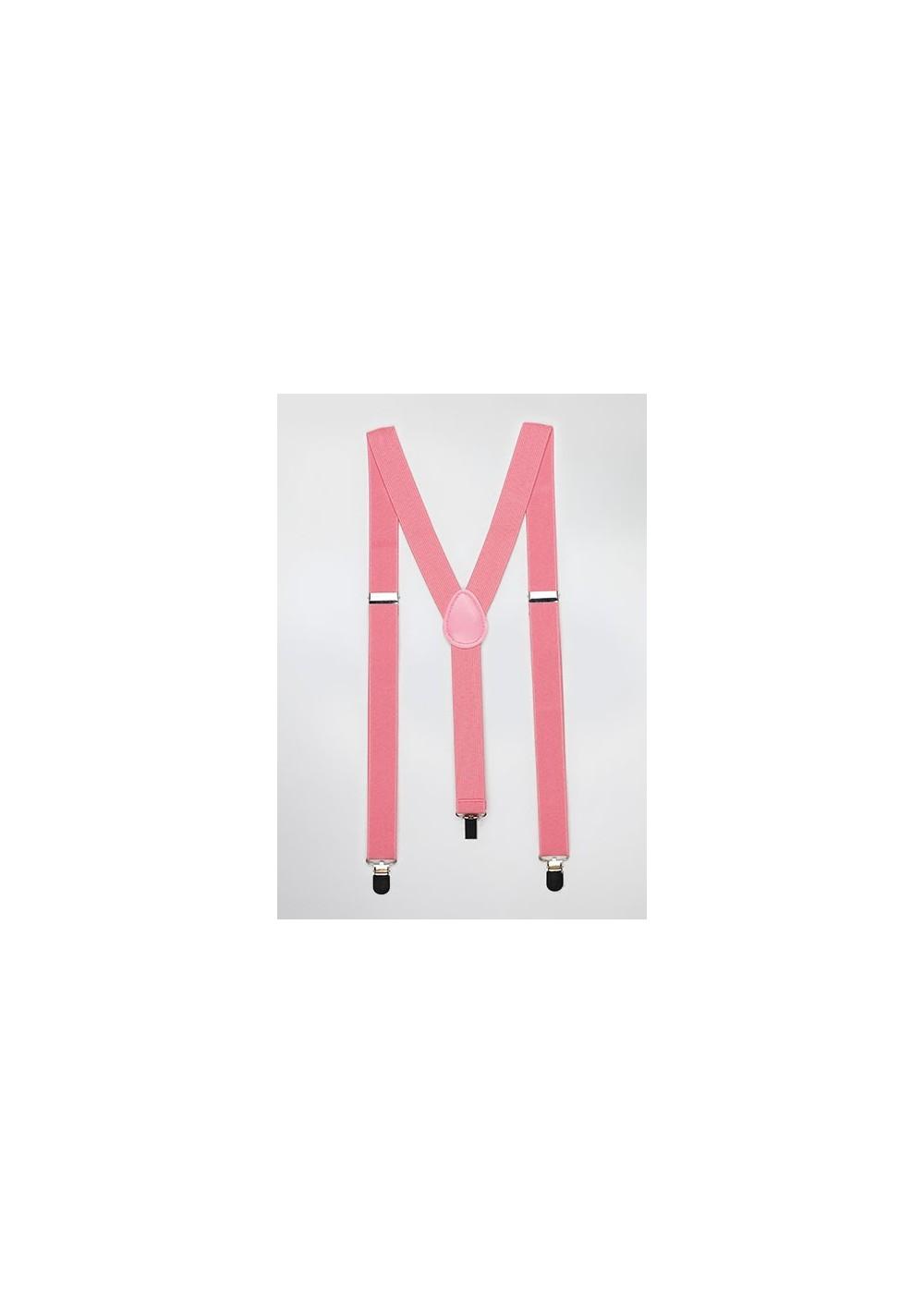 Suspenders in Tulip Pink