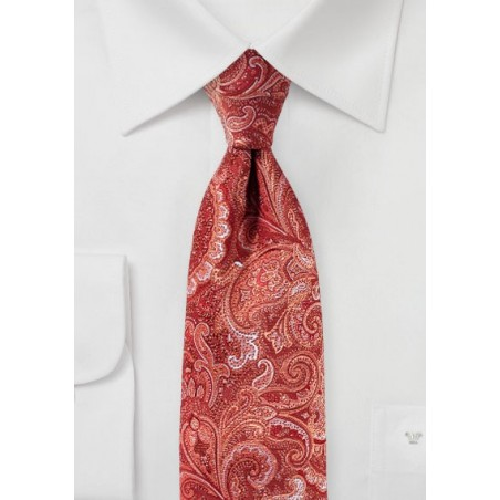 Paisley Tie in Terracotta