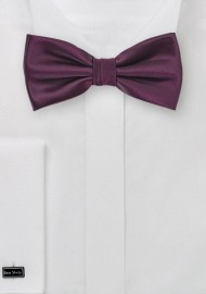 Kids Bow Tie in Plum