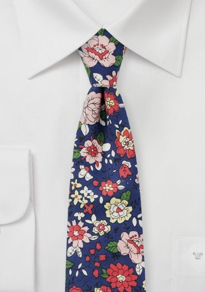 Roses and Orchid Print Tie on Finest Cotton