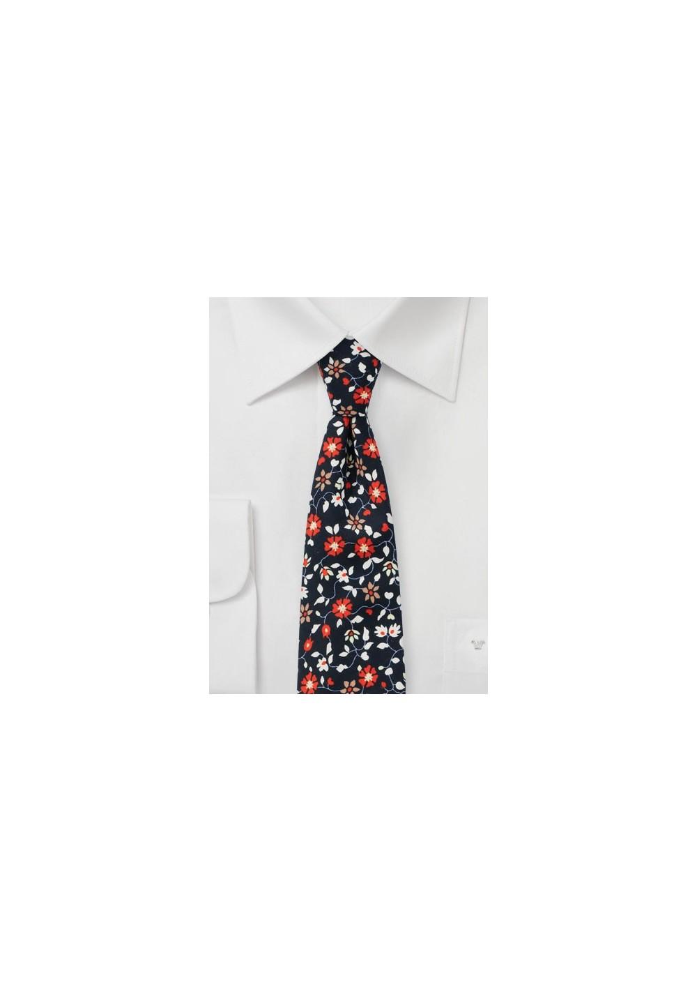 Climbing Blossom Cotton Tie