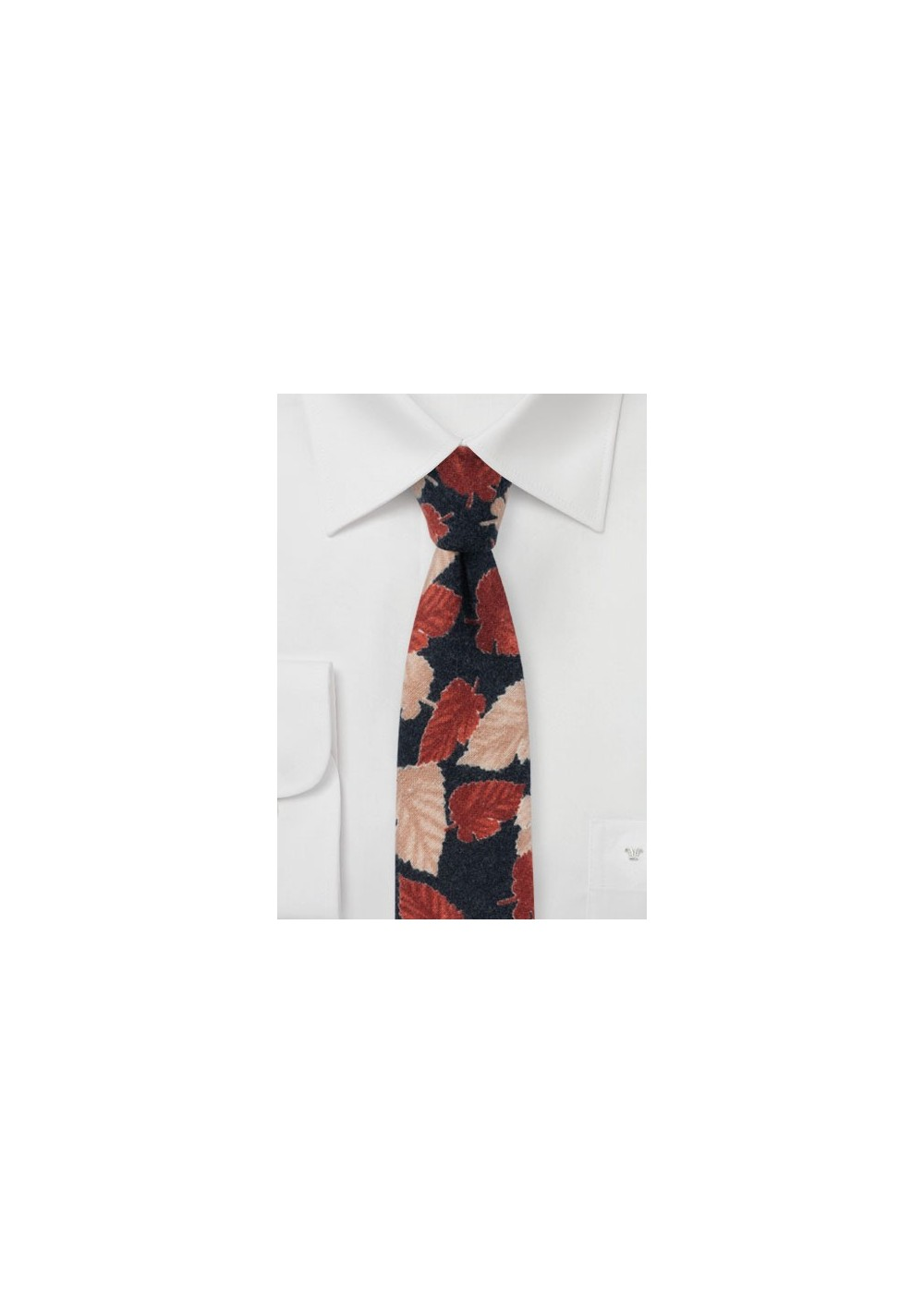 Leaf Print Tie on Flannel