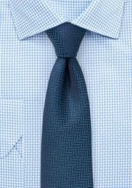 Teal Herringbone Woven Skinny Tie