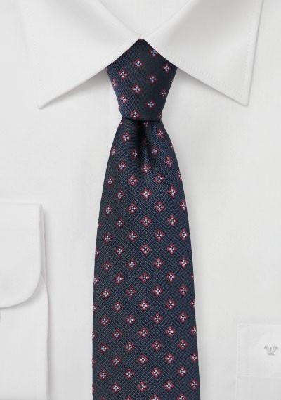 Woven Foulard Tie in Skinny Cut