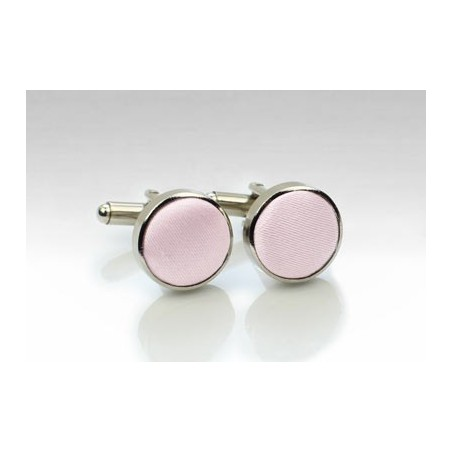 Silver and Blush Cufflinks