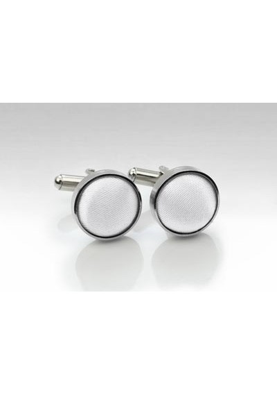Silver and Bright White Cufflinks