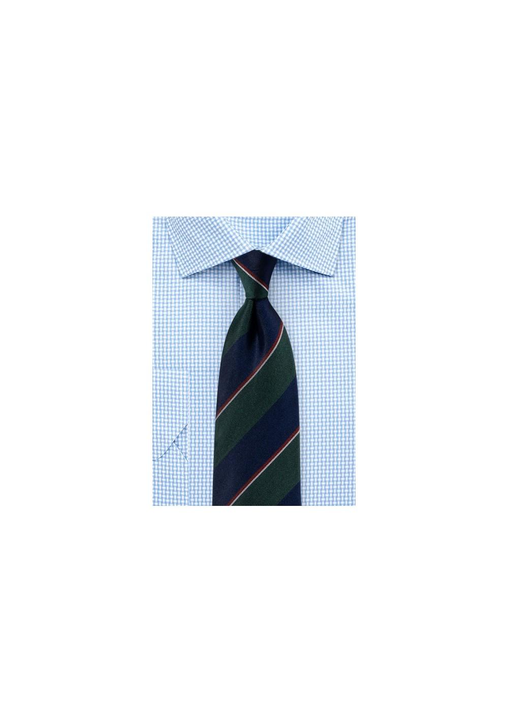 Classic Regimental Tie in Matte Woven Finish