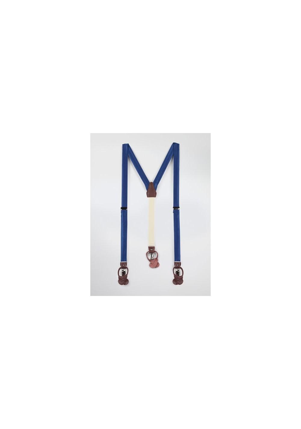 Royal Blue Mens Suspenders