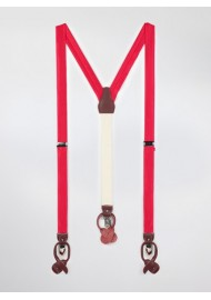 Bright Red Fabric Suspenders