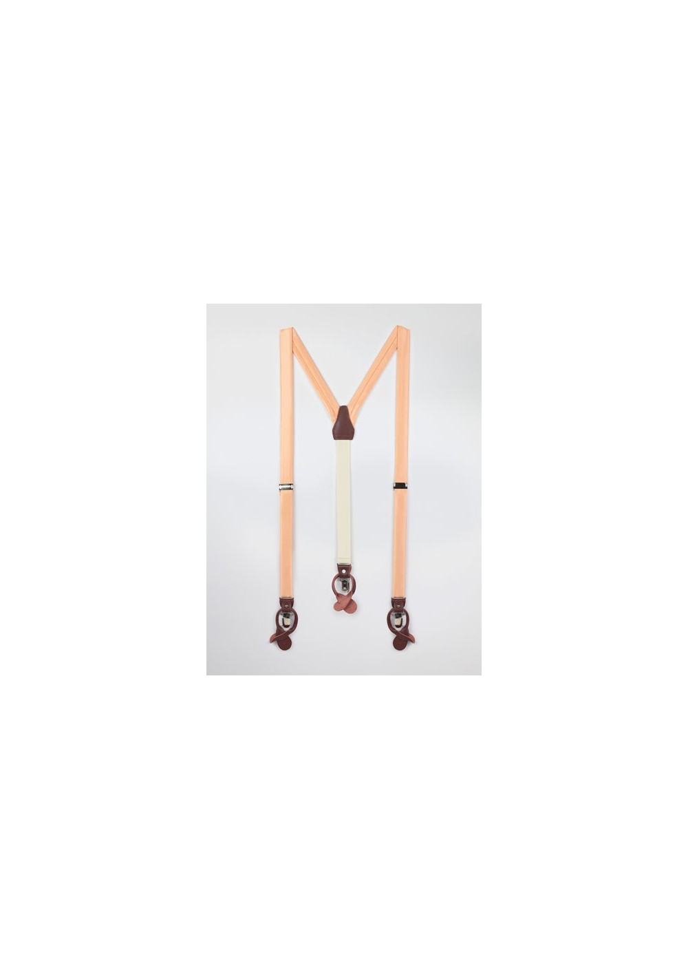 Peach Orange Mens Suspenders