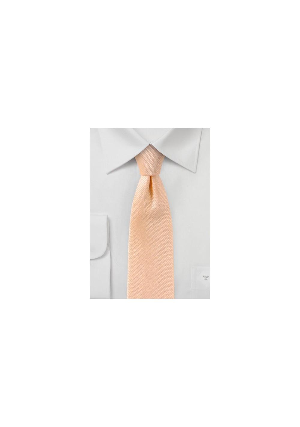 Slim Tie in Peach Sorbet