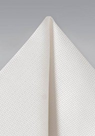 Solid Textured Hanky in Ivory