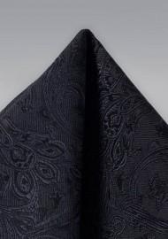 Formal Woven Hanky in Black