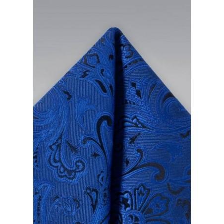Royal Blue Paisley Hanky