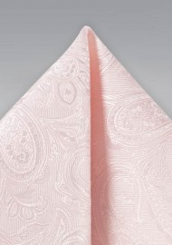 Bridal Pink Paisley Hanky