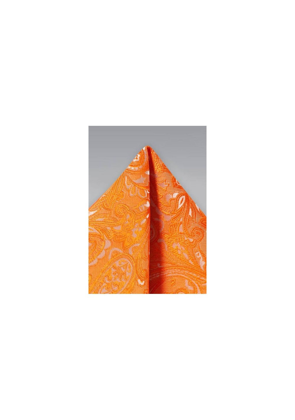 Mandarin Orange Paisley Hanky