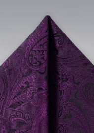 Paisley Pocket Square in Berry