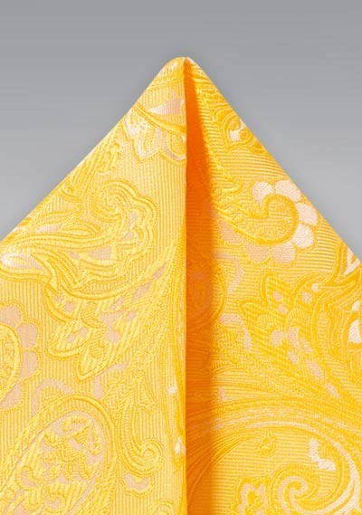 Canary Yellow Mens Suit Hanky