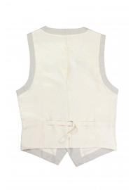 tan dress vest backside adjustable stap