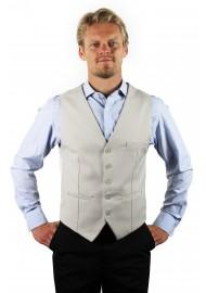Dress vest for men in sand tan color