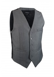 gray dress vest for men