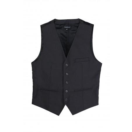 dress vest for men in charcoal