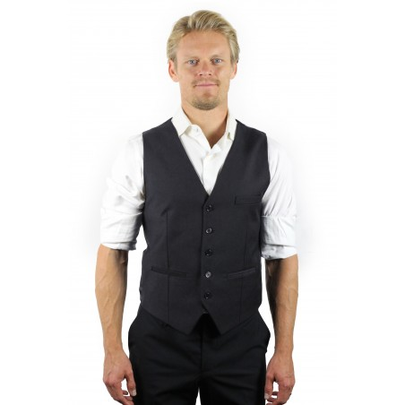 charcoal suit vest